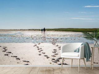 Panorama Fußspuren im Watt,Nordsee