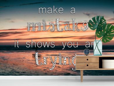 Inspirational quote on a retro style background