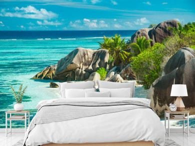 The most beautiful beach of Seychelles - Anse Source D'Argent