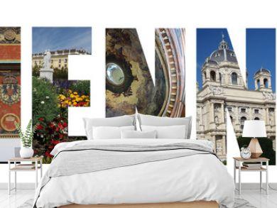 Vienna Austria collage on white