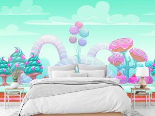 Fantasy sweet world illustration.