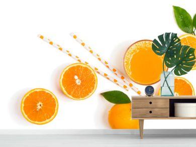 Fresh orange juice just squeezed.