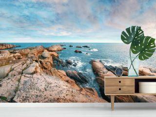 Beautiful panoramic rocky seashore