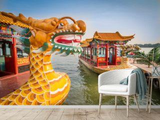 Dragon boat on the Kunming Lake, Beijing, China