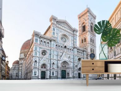 Florence Cathedral Santa Maria del Fiore sunrise view, Tuscany, Italy