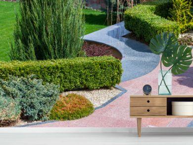 Plants and bushes in landscape design