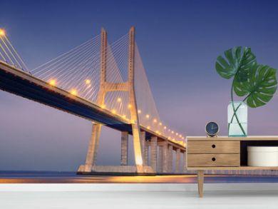 sunrise on Vasco da Gama bridge