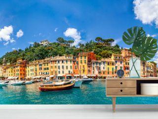 Panorama, Portofino, Ligurien, Italien