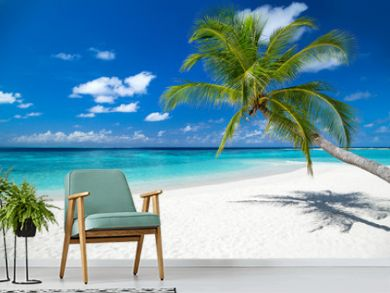 coco palm on tropical paradise island dream beach