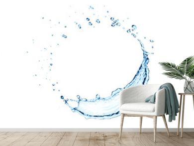 water splash circle isolated.