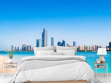 Abu Dhabi sky line and city scene