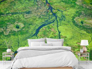 Okavango Delta Water from Above