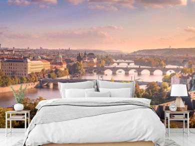 Prague sunset from Letna