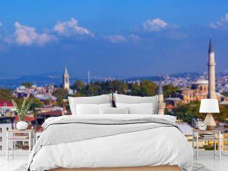 Panorama of Istanbul city, Turkey