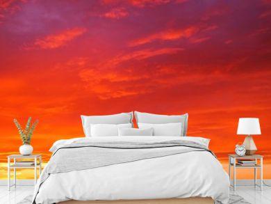 幻想的な夕焼けの背景イメージ