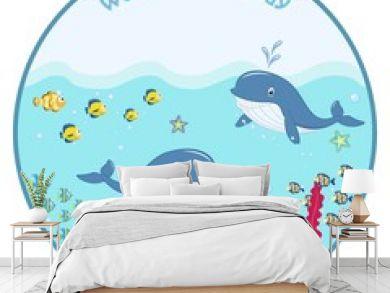 World ocean day. cartoon picture, vector illustration