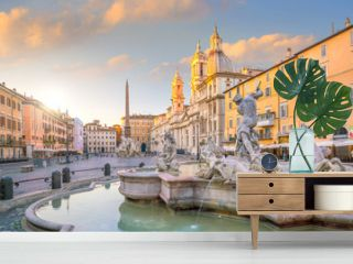 Fountain of Neptune on Piazza Navona, Rome, Italy