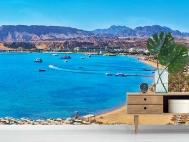 Panorama of El Maya bay beaches, Sharm El Sheikh, Egypt