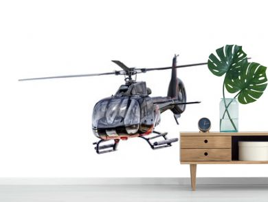 Front view helicopter isolated
