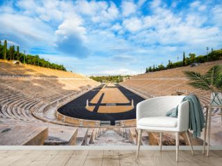 Panathenaic stadium in Athens, Greece (hosted the first modern Olympic Games in 1896), also known as Kalimarmaro which means good marble stone.