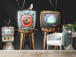The big brother, steampunk and strange television
