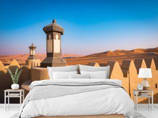 Desert resort entrance, Abu Dhabi