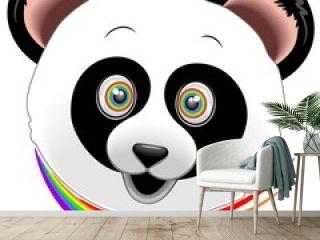 Panda Happy Face Rainbow Eyes