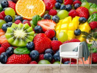 Fruit platter, close-up
