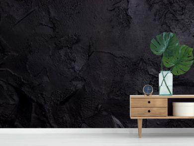 Black textured concrete