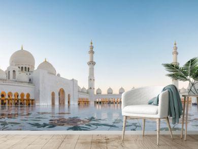 Abu Dhabi, UAE, 04 January 2018, Sheikh Zayed Grand Mosque in the Abu Dhabi, United Arab Emirates