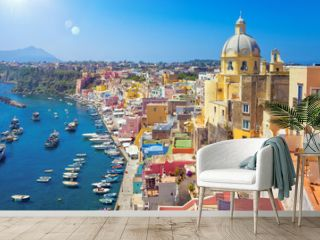 Beautiful colorful Procida island, Italy