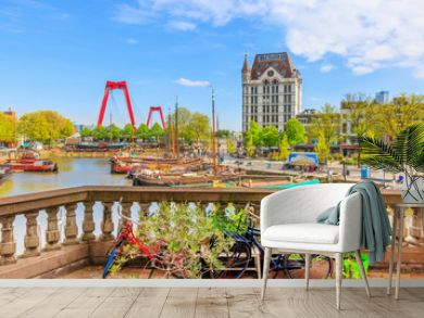 View of Oude Haven in Rotterdam From A Balcony