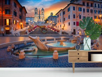 Rome. Cityscape image of Spanish Steps in Rome, Italy during sunrise.