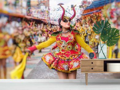 Dancers at Oruro Carnival in Bolivia, declared UNESCO Cultural World Heritag in Oruro, Bolivia
