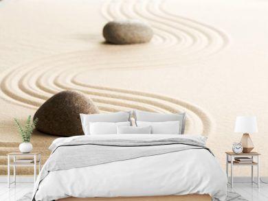 Zen stones in the sand