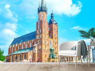 The central landmark of Krakow, Poland