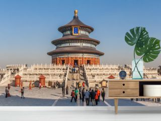 Panorama of the temple of Heaven in Beijing, China