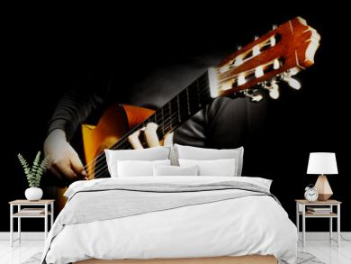 Acoustic guitar player. Classical guitarist