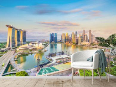 Singapore downtown skyline bay area