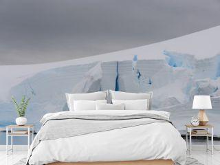 Glacier with crevasse