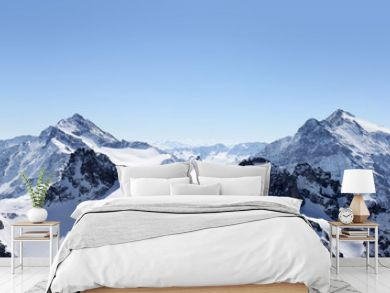 Alps Mountain panorama on the Titlis, Switzerland