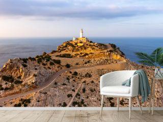 Mallorca Leuchtturm Kap Cap Formentor Panorama Landschaft Abend Natur Meer Reise Reisen Spanien