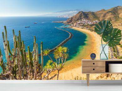 Beach Las Teresitas in Tenerife - Canary Islands Spain