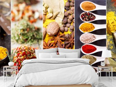 collage of various herbs and spices