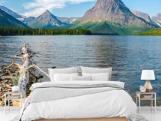 Two Medicine Lake and Mount Sinopah on background, Glacier National Park, Montana, United States.