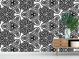 Abstract seamless black and white pattern