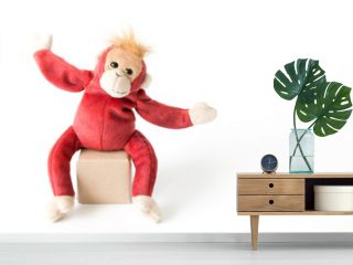 Happy monkey on vacation ,Happy monkey cheerful and happy smile.