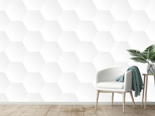 bright white abstract honeycomb background vector illustration EPS10