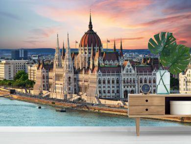 Beautiful building of Parliament in Budapest, popular travel destination