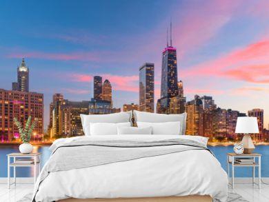 Chicago, Illinois, USA Lake Skyline
